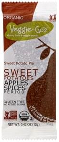 Veggie Gos Snacks Organic, Fruit & Veggie, Chewy, Sweet Potato Pie