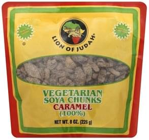 Lion of Judah Vegetarian Soya Chunks 100%, Caramel