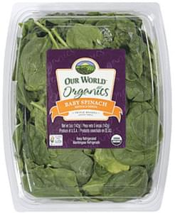 Our World Organics Baby Spinach