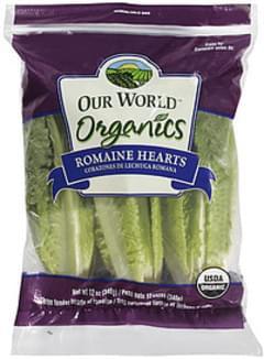 Our World Organics Vegetable Romaine Hearts