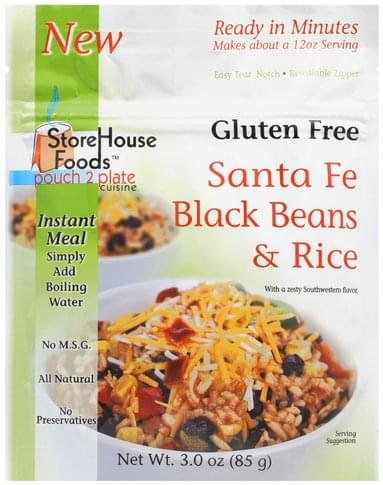 StoreHouse Foods Santa Fe Black Beans & Rice - 3 oz