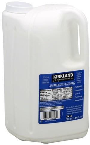 Kirkland Reduced Fat, 2% Milkfat Milk - 1 gl, Nutrition