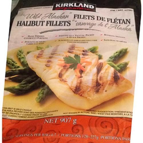 Kirkland Signature Wild Alaskan Halibut Fillets - 198 g