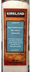 Kirkland Signature Mediterranean Sea Salt Grinder