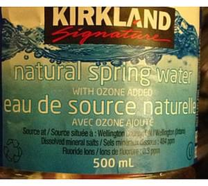 Kirkland Signature Natural Spring Water - 500 ml, Nutrition