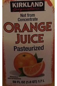 Kirkland Signature Fruit Juice Orange