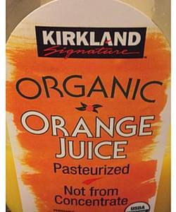 Kirkland Signature Organic Fruit Juice Orange