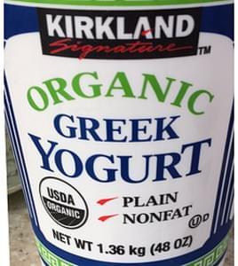 Kirkland Signature Greek Yogurt Organic