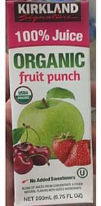 Kirkland Signature Organic Fruit Juice Fruit Punch