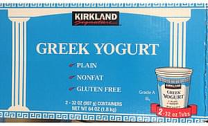 Kirkland Signature Greek Yogurt Plain Nonfat Gluten Free