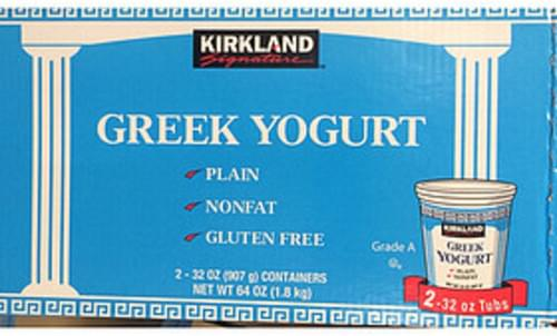 Kirkland Signature Greek Yogurt Plain Nonfat Gluten Free - 227 g