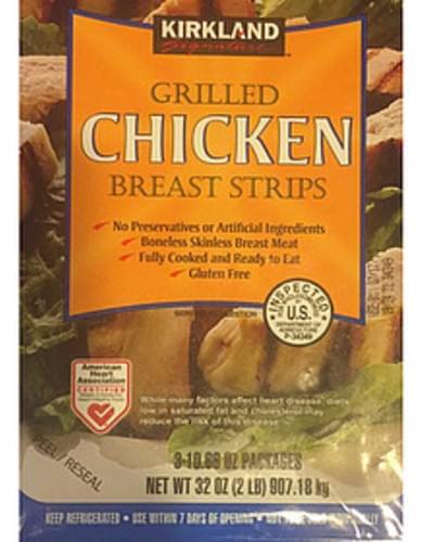 Kirkland Signature Grilled Chicken Breast Strips - 84 g