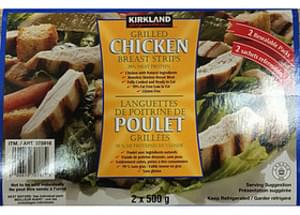 Kirkland Signature Grilled Chicken Breast Strips