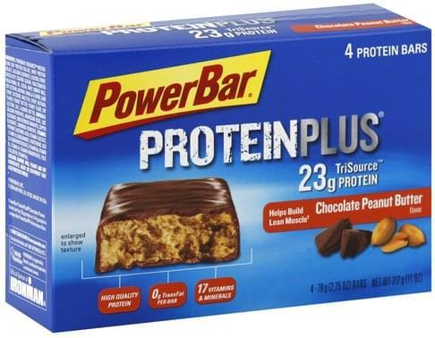 Powerbar Chocolate Peanut Butter Flavor Protein Bars - 4 ea