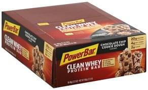 PowerBar Protein Bar Chocolate Chip Cookie Dough Flavored, Clean Whey