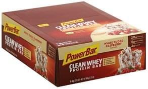 PowerBar Protein Bar White Fudge Raspberry Flavored, Clean Whey