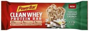 PowerBar Protein Bar Clean Whey, Vanilla Coconut Crunch Flavored
