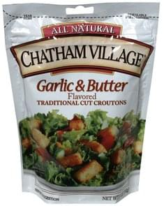 Chatham Village Croutons Traditional Cut, Garlic & Butter Flavored