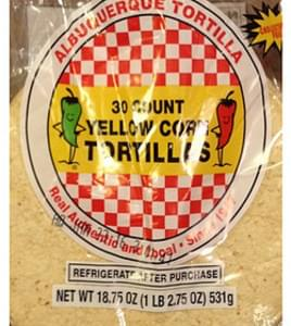 Albuquerque Tortilla(Tm) Tortillas Yellow Corn