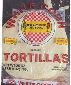 Albuquerque Tortilla(Tm) Tortillas White Corn