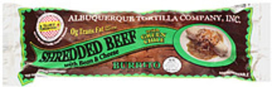 Albuquerque Tortilla Co. Burrito Shredded Beef With Bean & Cheese