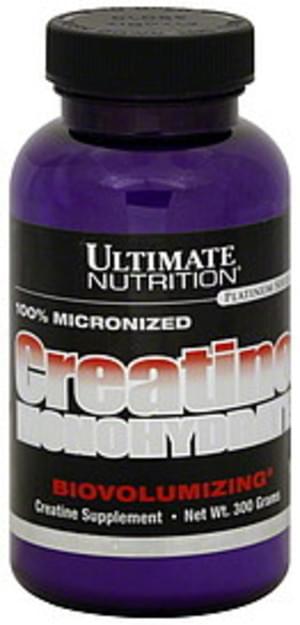 Ultimate Nutrition Biovolumizing 300 G Creatine Monohydrate 300 G Nutrition Information Innit