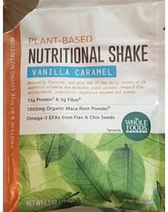 Whole Foods Market Plant Based Nutritional Shake Vanilla Caramel