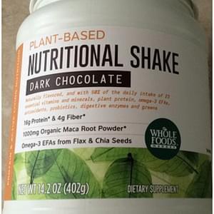 Whole Foods Market Plant Based Nutritional Shake Dark Chocolate