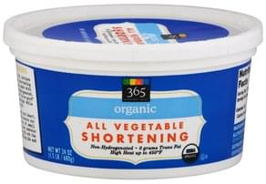 365 Everyday Value Shortening All Vegetable