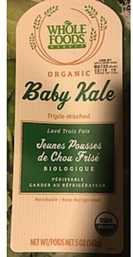 Whole Foods Market Organic Baby Kale - 130 g