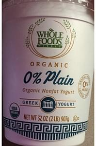 Whole Foods Market Nonfat Yogurt Plain