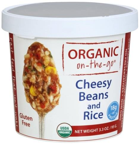 Organic on the go Cheesy Beans and Rice - 3.3 oz
