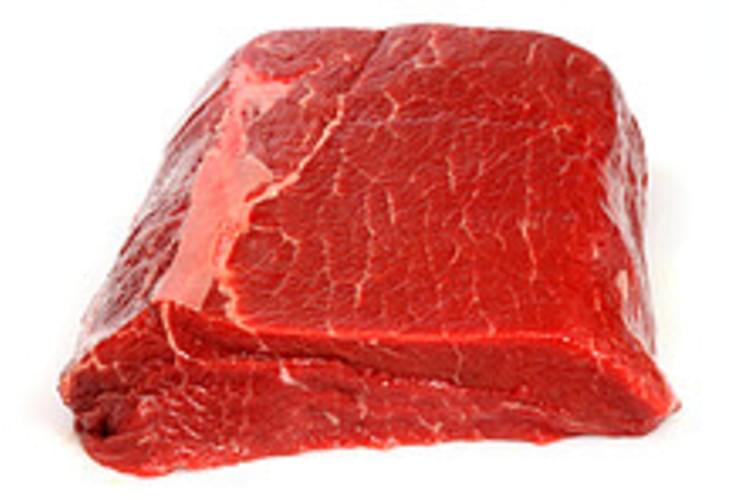 "USDA  round  top round  steak  separable lean and fat  trimmed to 1/8"" fat  all grades Beef - 4 oz"