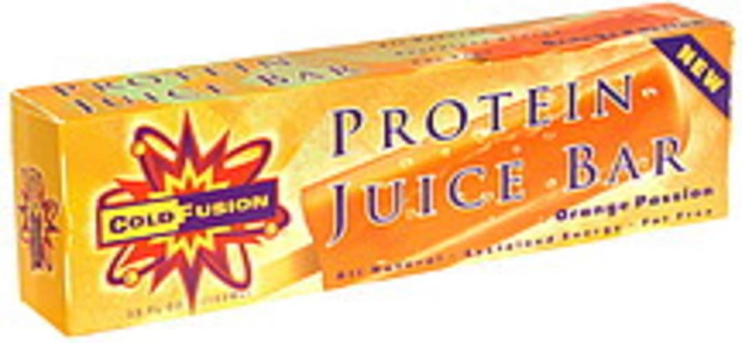 Cold Fusion Orange Passion Protein Juice Bar - 3.5 oz