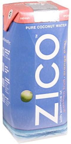 Zico Pure Coconut Water Passion Fruit, Orange Peel