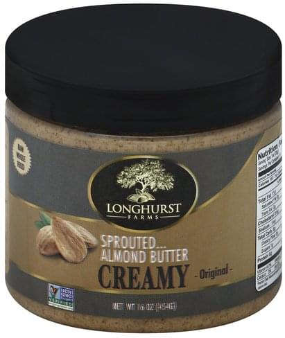Longhurst Farms Sprouted, Creamy, Original Almond Butter - 16 oz