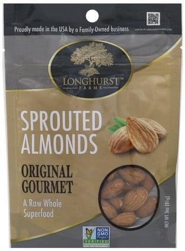 Longhurst Farms Sprouted Almonds - 3 oz