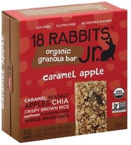 18 Rabbits Granola Bar Organic, Caramel Apple