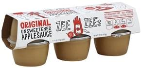 Zee Zees Apple Sauce Unsweetened, Original