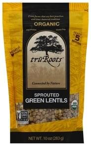 TruRoots Green Lentils Sprouted, Organic