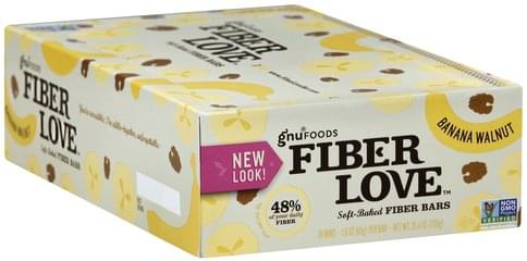 Gnu Foods Soft-Baked, Banana Walnut Fiber Bars - 16 ea