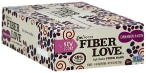 Gnu Foods Fiber Bars Soft-Baked, Cinnamon Raisin