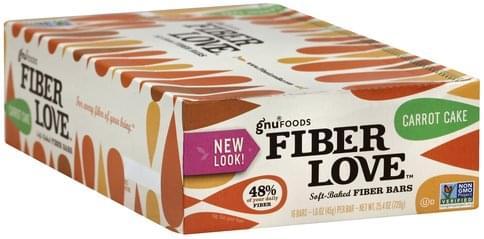 Gnu Foods Soft-Baked, Carrot Cake Fiber Bars - 16 ea