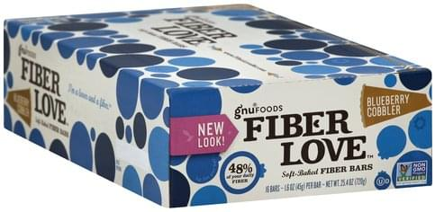 Gnu Foods Soft-Baked, Blueberry Cobbler Fiber Bars - 16 ea
