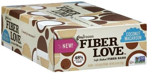 Gnu Foods Soft-Baked, Coconut Macaroon Fiber Bars - 16 ea
