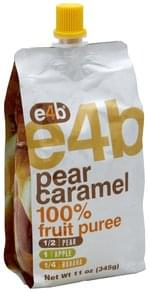 e4b 100% Fruit Puree Pear Caramel