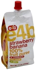 e4b 100% Fruit Puree Strawberry Banana