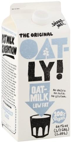 Oat-Ly! Low Fat Oat-Milk - 64 oz
