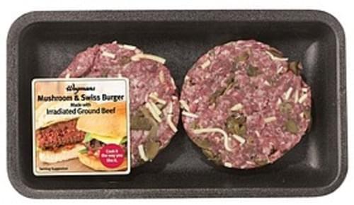 Wegmans Specialty Irradiated Mushroom Swiss Burgers Swiss Burgers - 1 lb