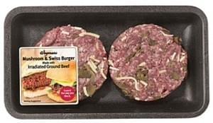 Wegmans Swiss Burgers Specialty Irradiated Mushroom Swiss Burgers